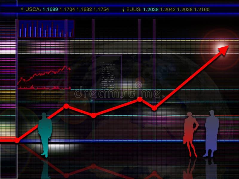 Abstract modern en/of futuristisch voorraad en marktgrafiekscenario