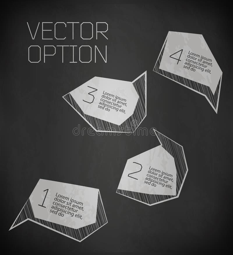 Abstract modern Etiket vector illustratie