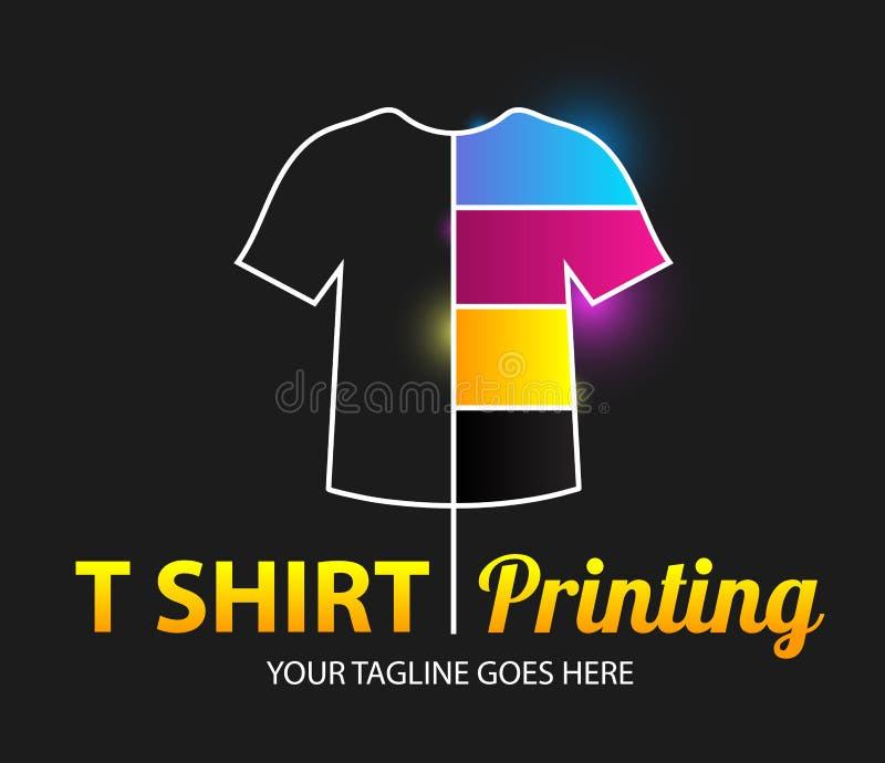 Abstract modern gekleurd vectorembleemmalplaatje van t-shirtdruk Voor typografie, druk, collectieve identiteit, workshop, het bra vector illustratie