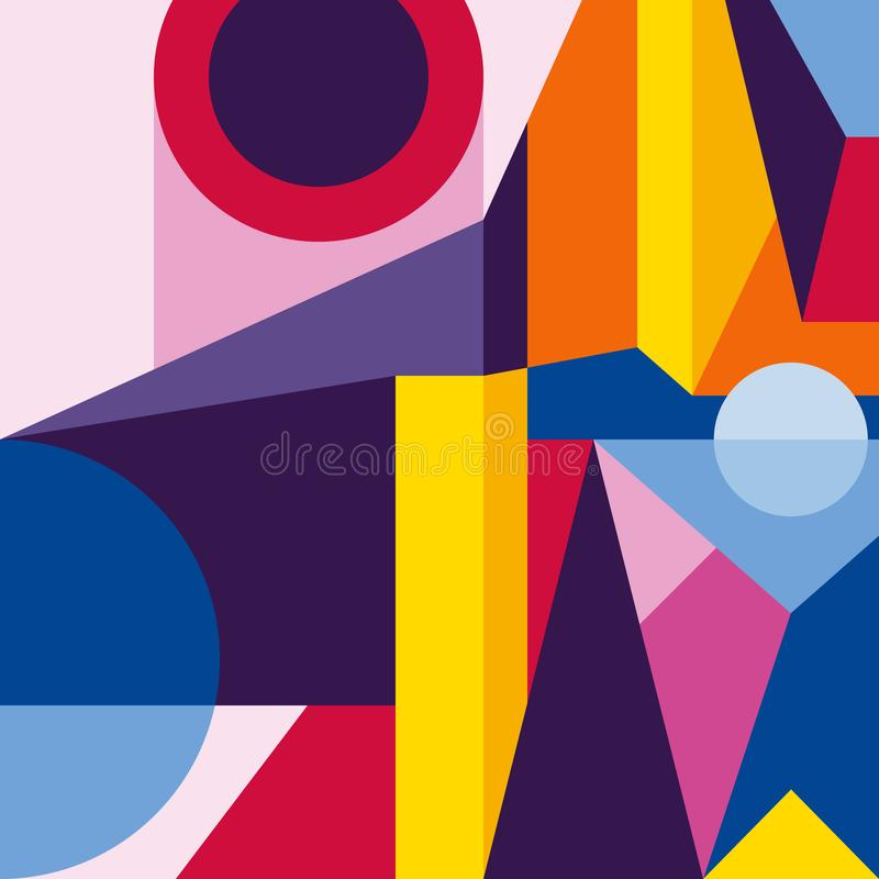 Abstract modern geometric background. Composition 2 royalty free illustration