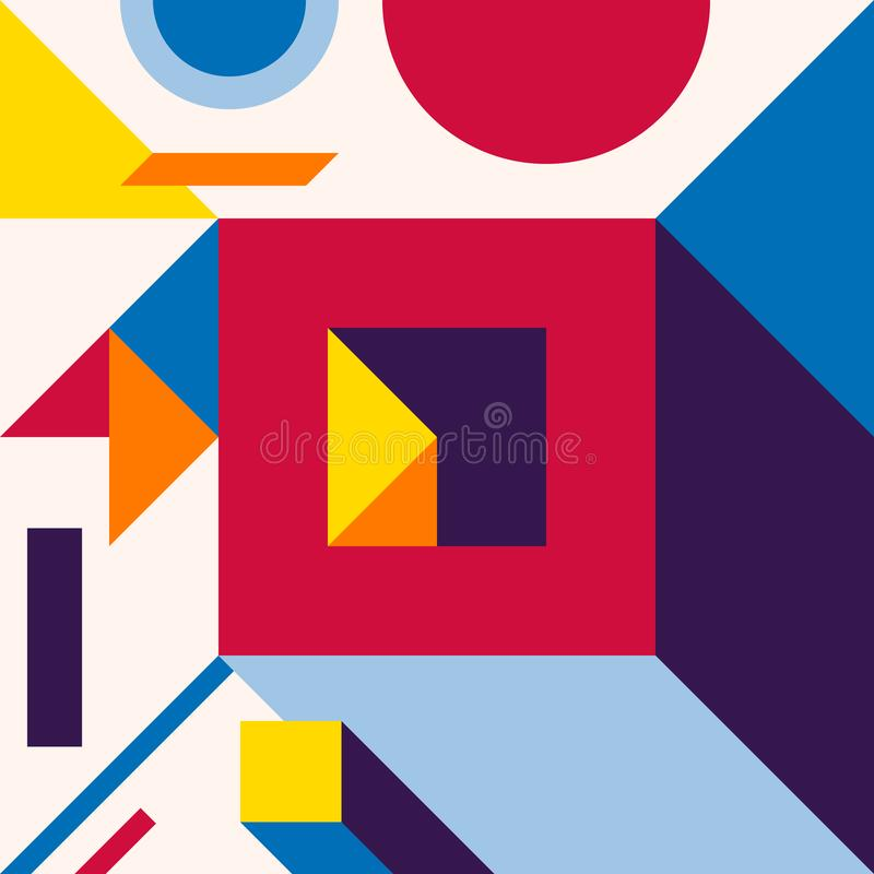 Abstract modern geometric background. Composition 12 vector illustration