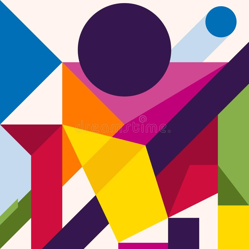 Abstract modern geometric background. Composition 8 stock illustration