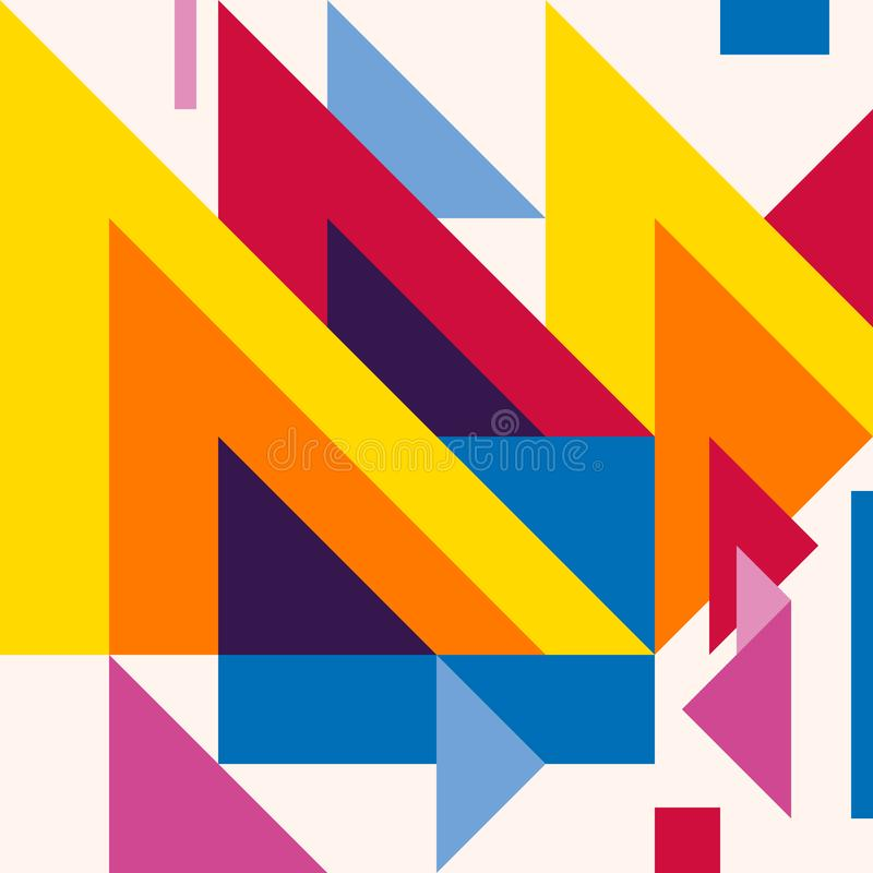 Abstract modern geometric background. Composition 20 stock illustration