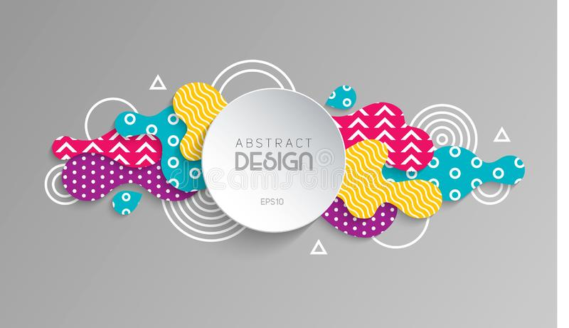 Abstract modern geometric background. EPS 10 royalty free illustration