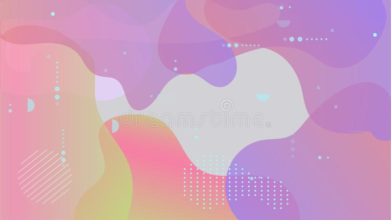 Abstract modern geometric background. Fluid shapes composition, banner for replace text. Vector vector illustration