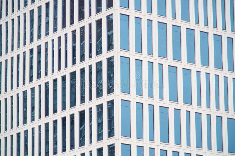 Abstract Modern glass building, Business Office Glass Windows Building stock photo