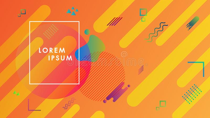 Abstract modern graphic background element colorful geometric.Template for the design of a website landing page.Gradient stock illustration