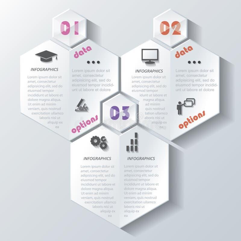 Abstract modern infographicsontwerp met aantallen stock illustratie