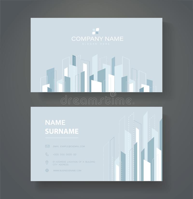 Abstract modern line double sided business card template vector eps10.  stock illustration