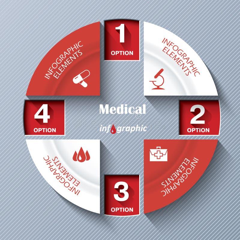 Abstract modern malplaatje voor medische project of presentatie stock illustratie