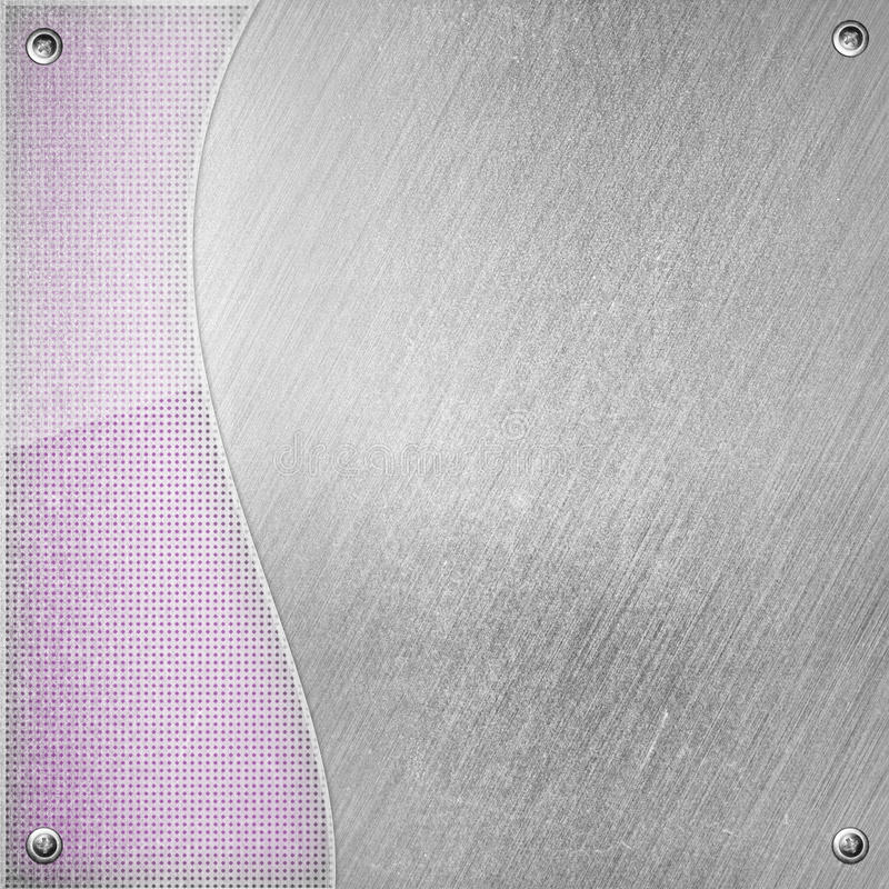 Abstract modern metal glass background stock illustration