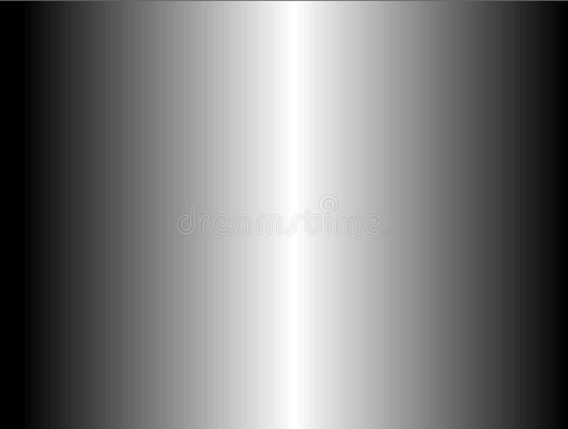 Abstract modern metallic gradient grey color glossy brushed background. Abstract modern metallic gradient grey color brushed, glossy metallic background vector illustration