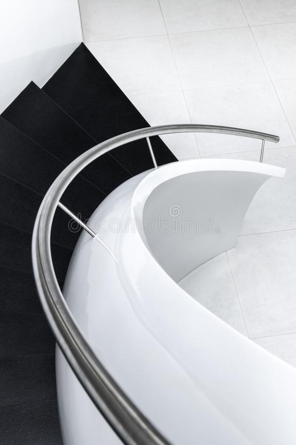 Abstract modern stairs stock photos