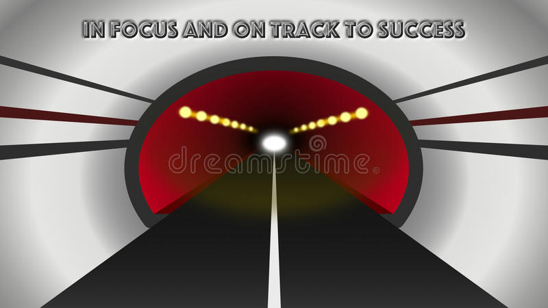 Abstract Modern Tunnel Leading To Success. Abstract modern road tunnel with an embossed sentence to represent focus and imminent success. A representation of an stock images