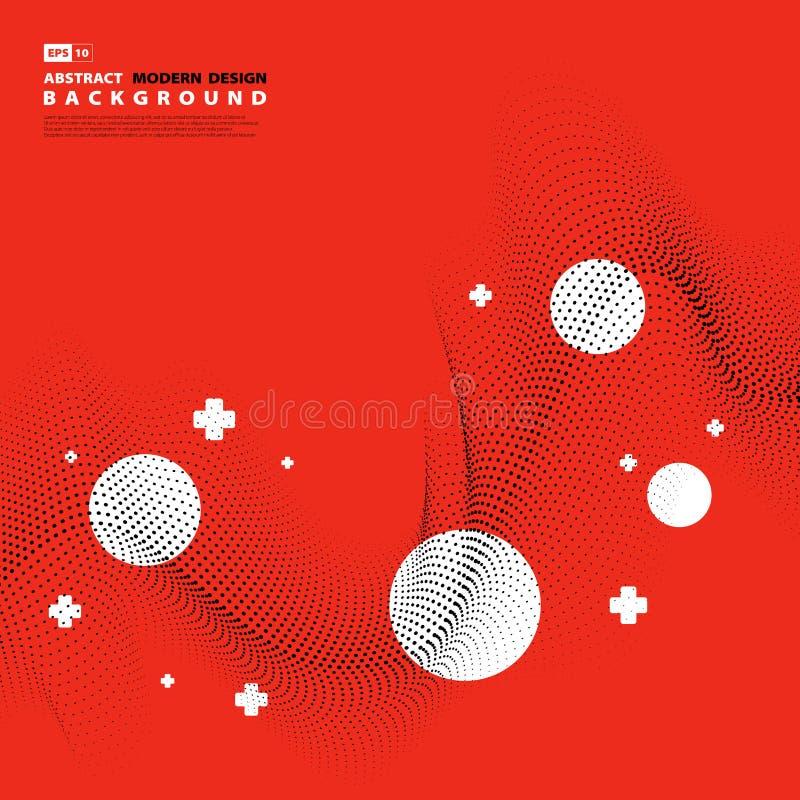 Abstract modern van de de lijndecoratie van het ontwerppatroon de puntontwerp Illustratie vectoreps10 stock illustratie