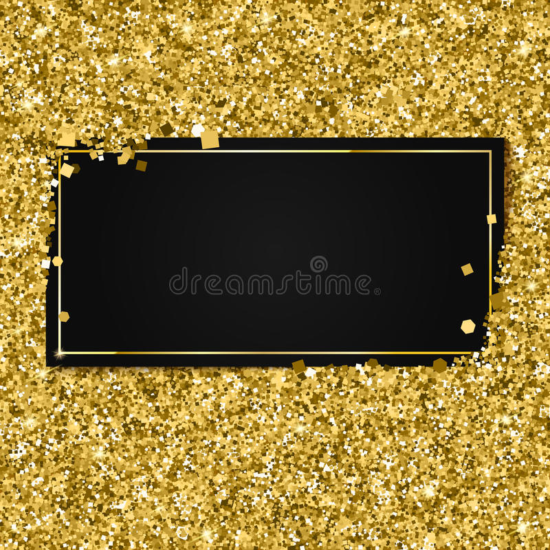 download vector your place abstract modern golden glittering luxury templates black illustration gold stock with shiny background banner elements