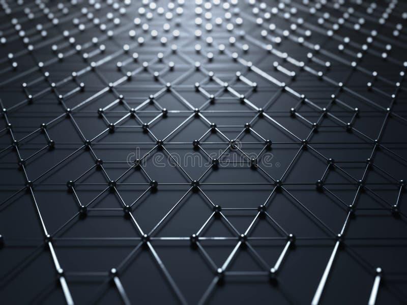 Abstract Molecular Grid Modern Background stock illustration