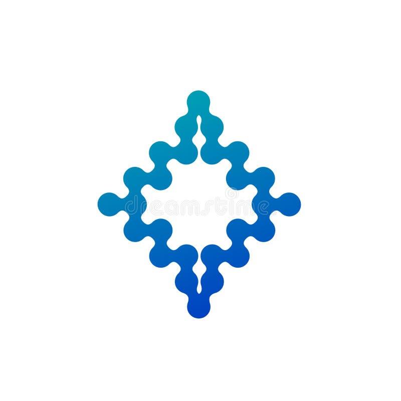 Abstract Molecular nanotechnology geometric shape. Stock Vector illustration isolated on white background vector illustration