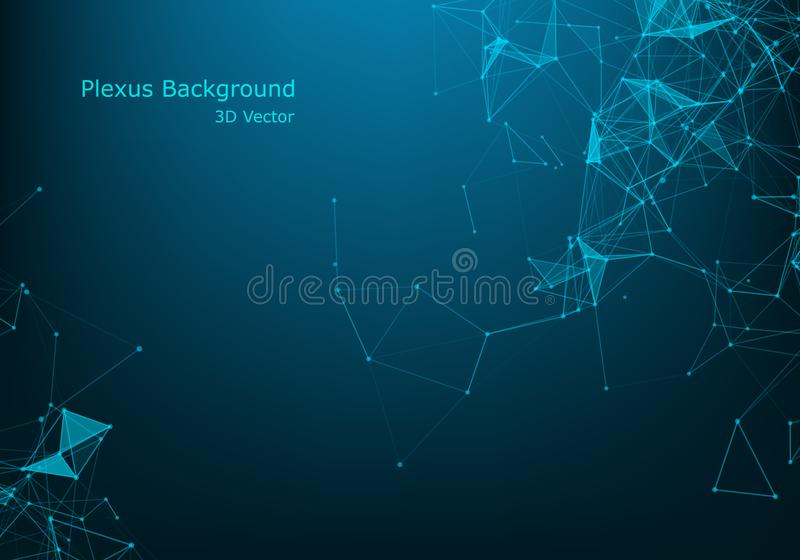Abstract molecule background, genetic and chemical compounds, connected lines with dots, medical, technological and scientific vector illustration