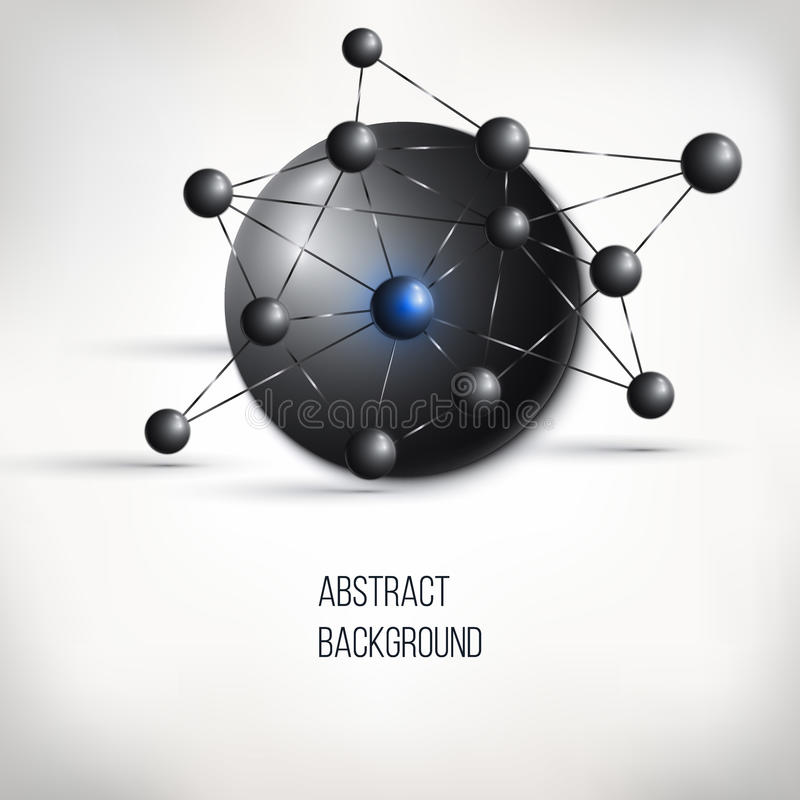 Abstract molecule design. Atom structure. vector illustration