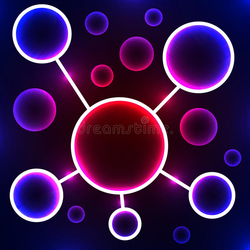 Abstract molecule. Stylized atom. Scientific research. Abstract background. Vector Image. vector illustration