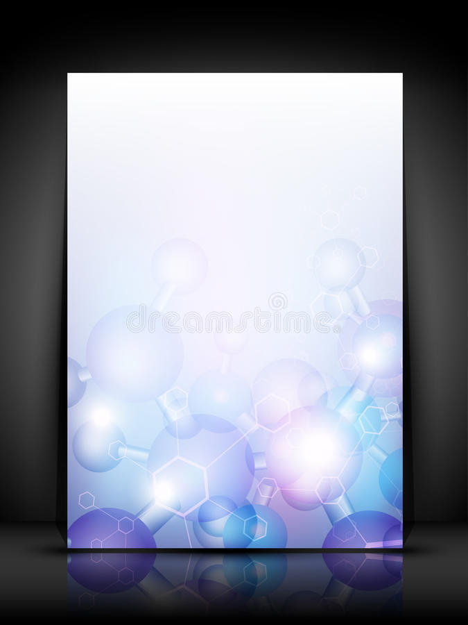 Abstract molecules medical background vector illustration