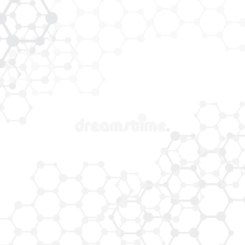 Abstract molecules medical background with copy sp royalty free illustration