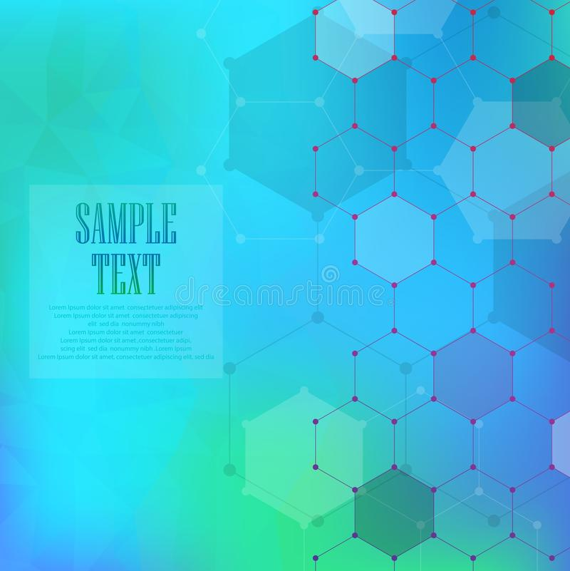 Abstract molecules medical background stock illustration