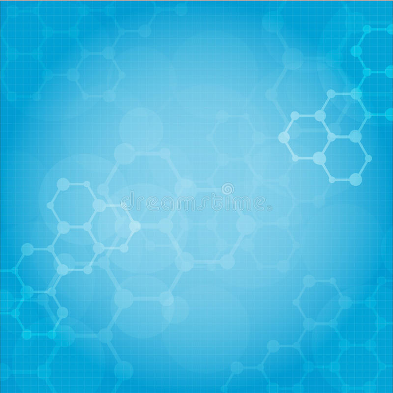 Abstract molecules medical background royalty free illustration