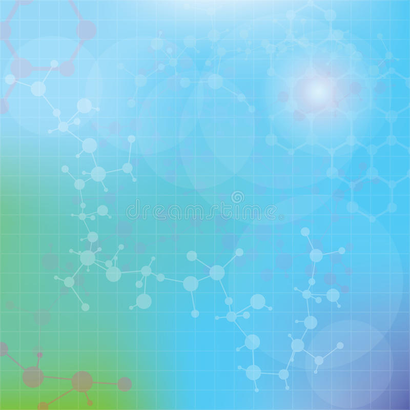 Abstract molecules medical background (Vector). royalty free illustration