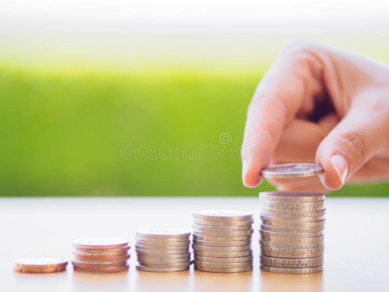 Abstract money saving stock photo