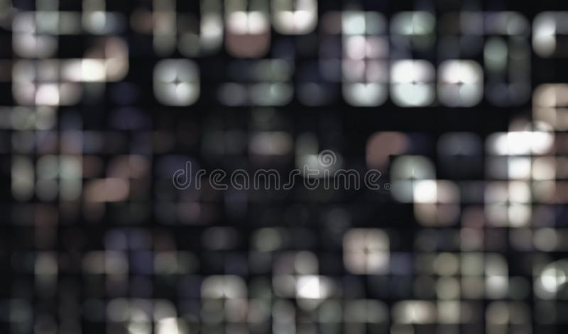 Abstract monochromatic bokeh overlay background image. stock image