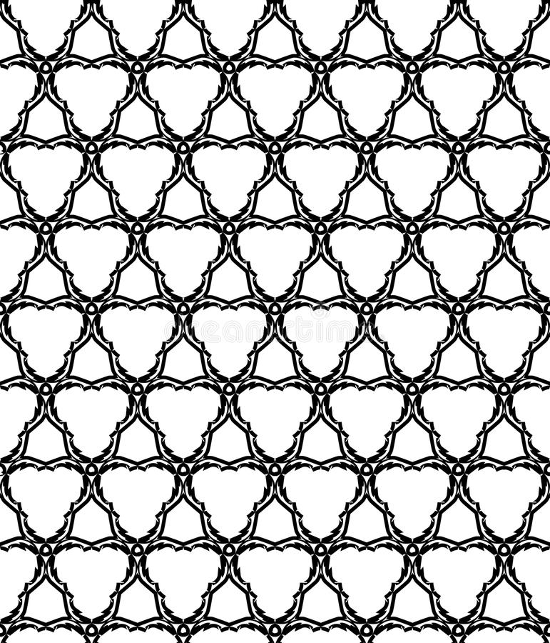 Download Abstract Monochromatic Seamless Pattern Stock Vector - Illustration of element, bloom: 14655393