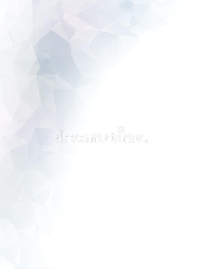 Abstract monochrome low poly background stock illustration