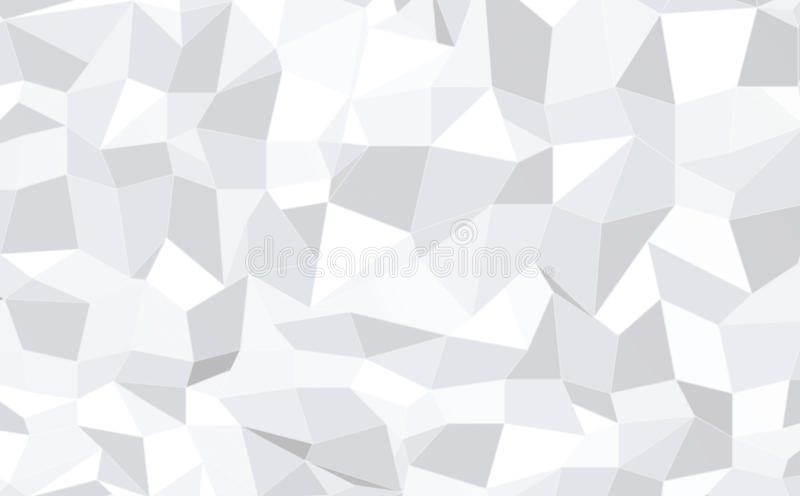 Abstract monochrome low poly pattern background stock illustration
