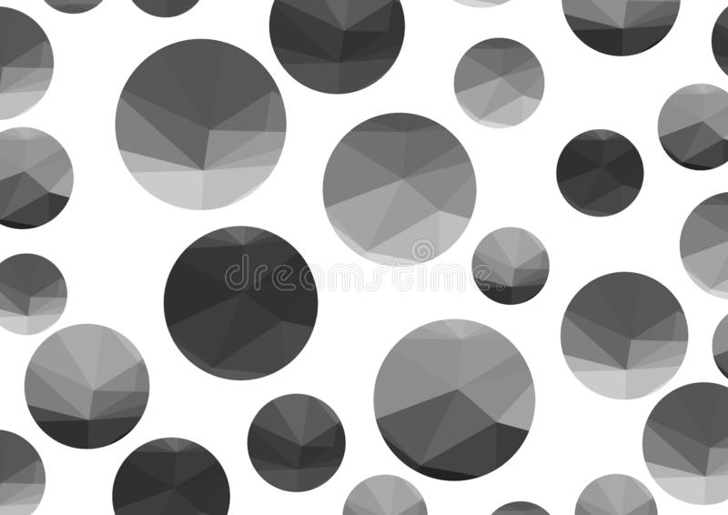 Abstract monochrome triangle circles on a light background. Vector illustration vector illustration
