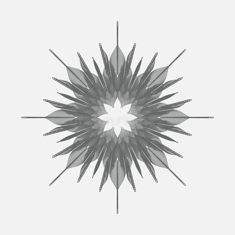 Abstract monochrome vector design stock images