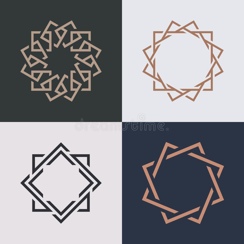Abstract monogram elegant logo icon vector design. stock illustration