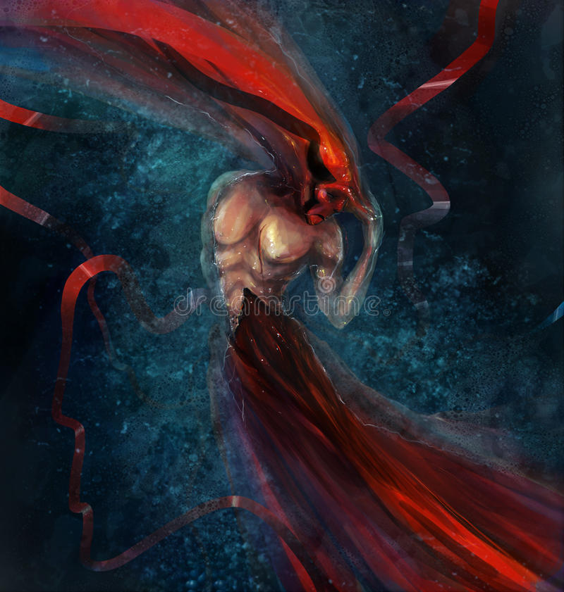 Abstract monster royalty-vrije illustratie