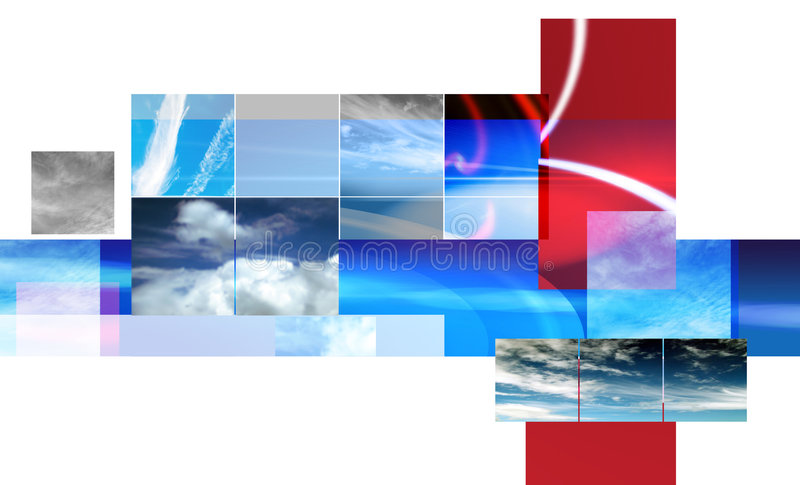 Abstract montage design vector illustration
