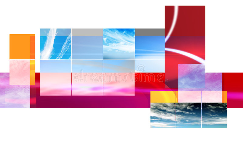 Abstract montage design royalty free illustration