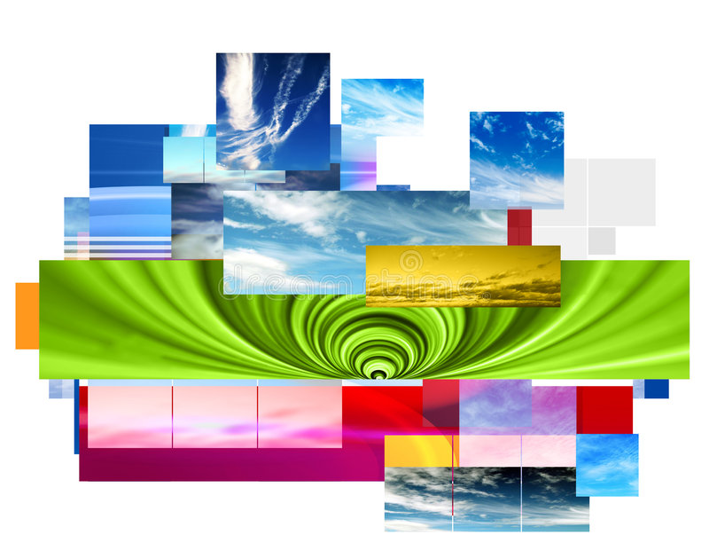 Abstract montage design stock illustration