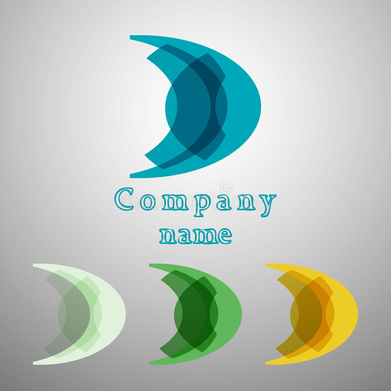 Abstract Moon Brand Logo For A Company Icon Symbol Stock