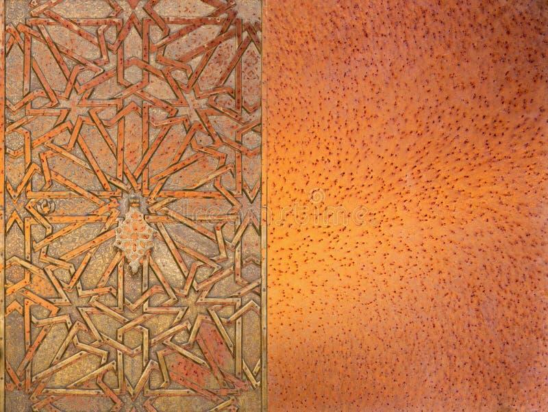 Abstract moorish background - mudejar gate. Abstract moorish background and mudejar gate vector illustration