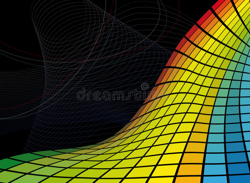 Abstract mosaic background. Vector file added vector illustration