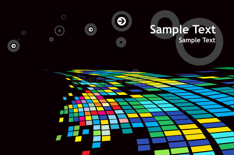 Abstract mosaic background vector illustration
