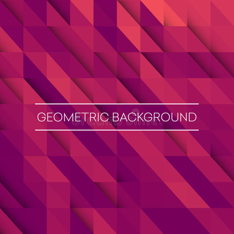 Abstract mosaic background. Pink, purple, orange triangles geometric background. vector illustration