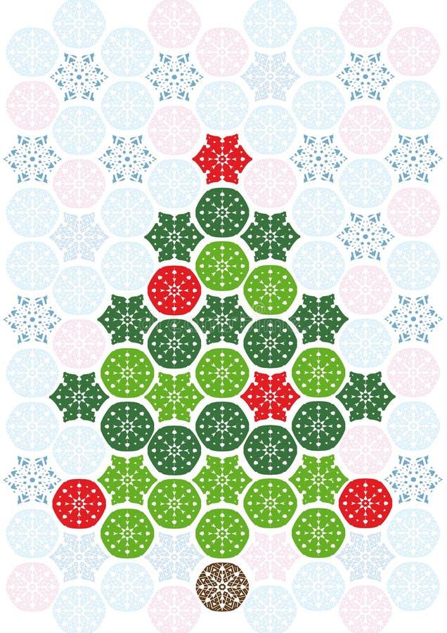 Abstract mosaic christmas tree