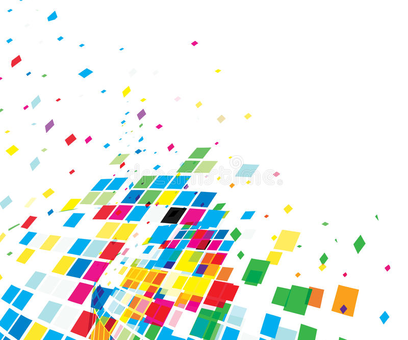 Abstract mosaic composition stock illustration