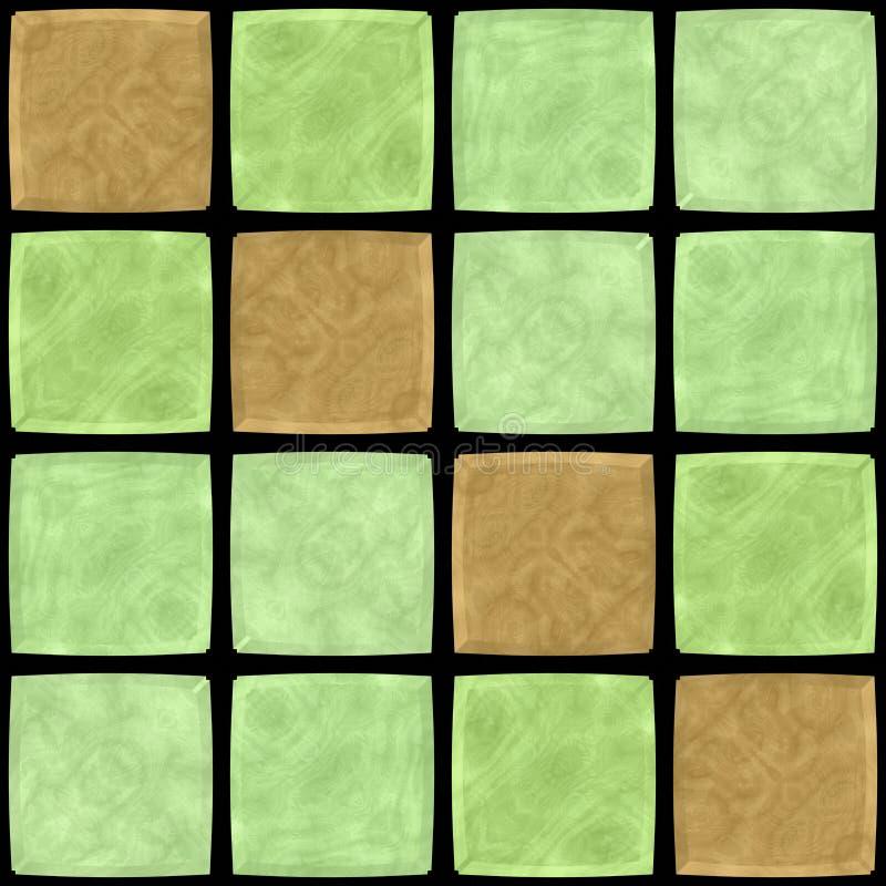 Ocher green abstract mosaic pattern royalty free illustration